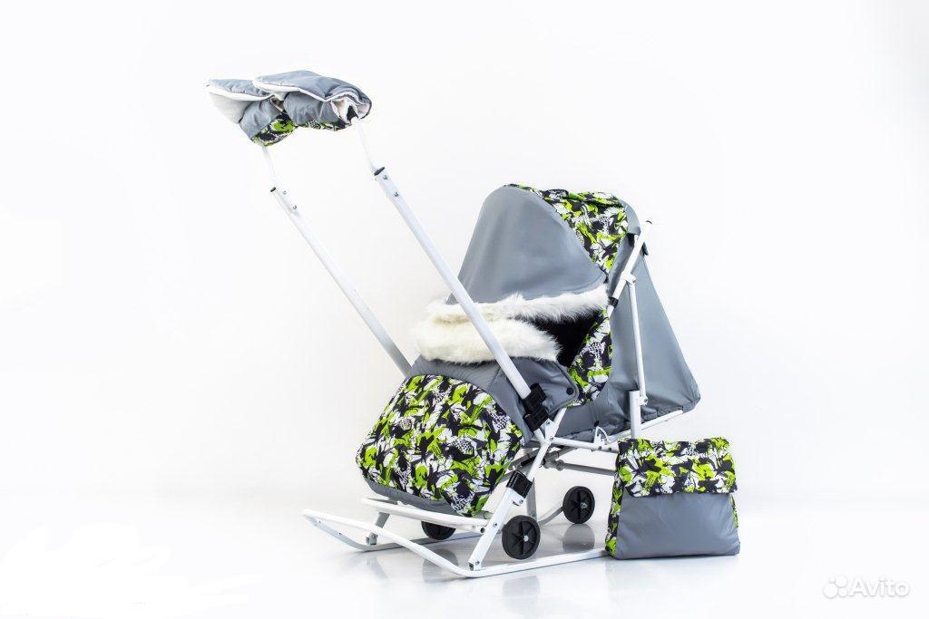 авито санки коляска с колесами москва