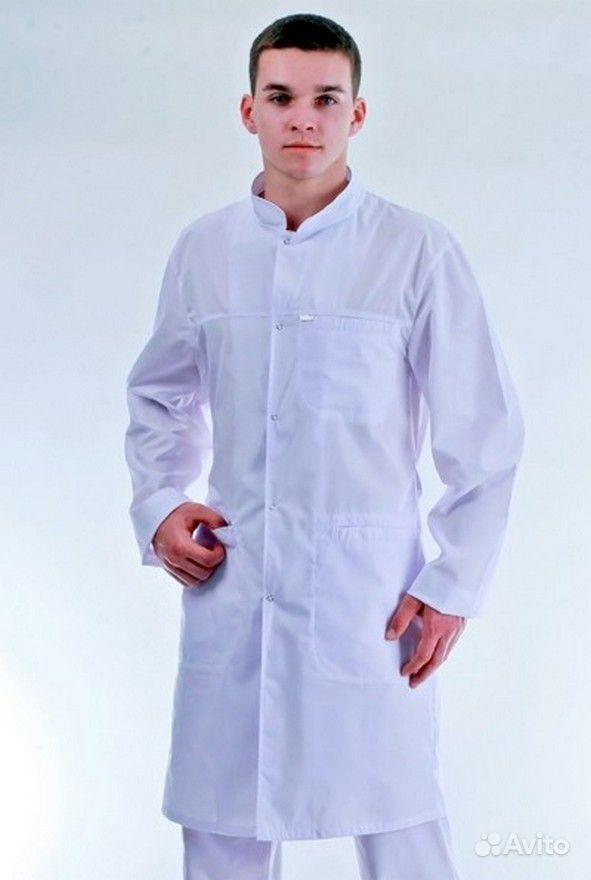 Халат мужской Доктор белый. Компания Спикард является ведущей
