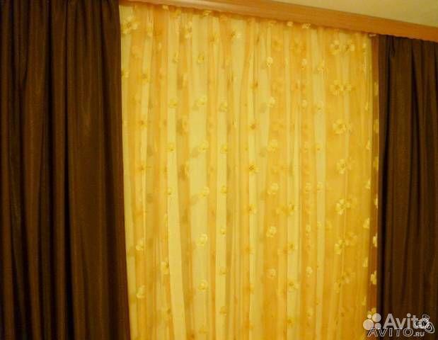Интерьер шоколадные шторы