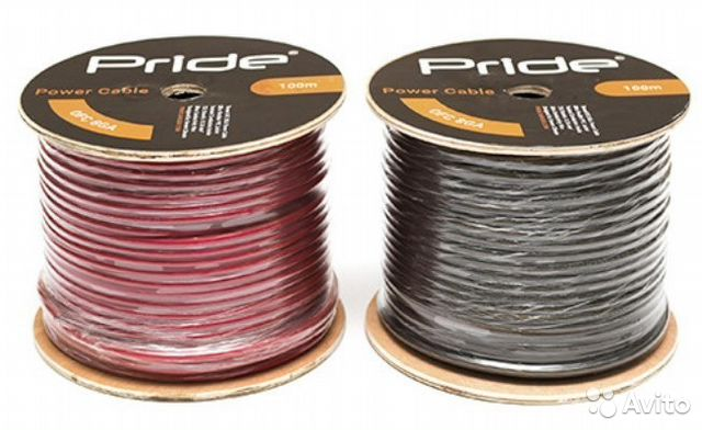 Art sound c8pro-100r, силовой кабель 8 ga, красный, 1\\30м