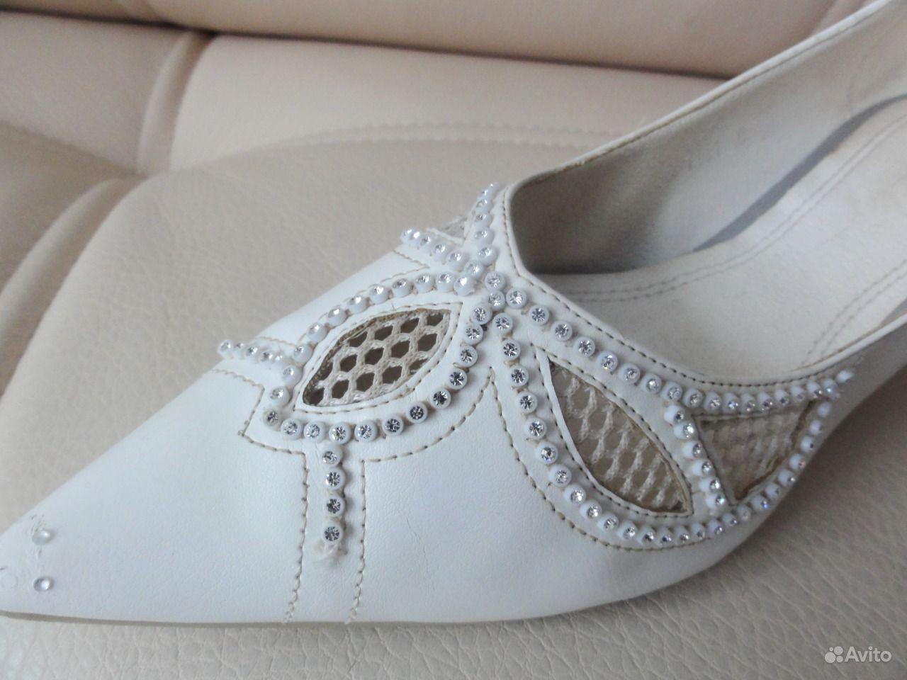 Итальянские свадебные туфли, роскошные - Москва