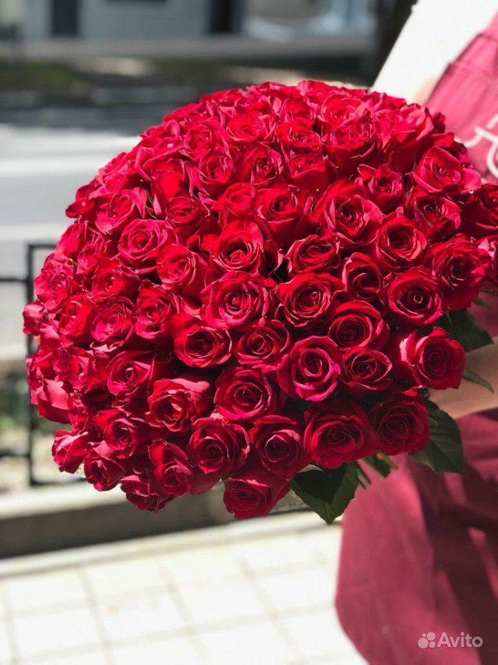 Букет из 101 розы купить на Зозу.ру - фотография № 1