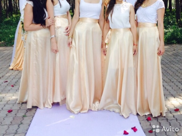 Юбки для подружек невесты фото