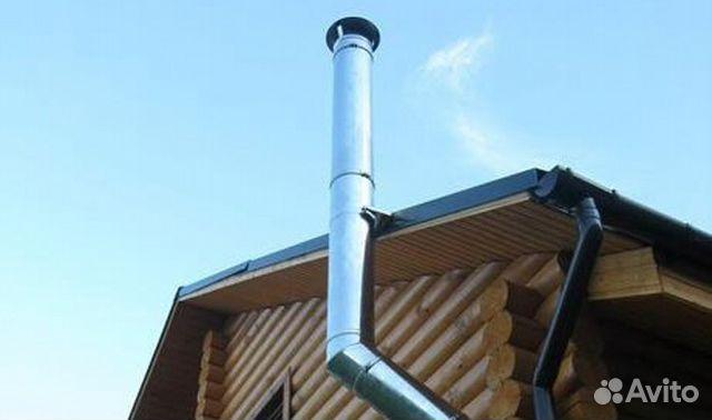 Установка метал дымоход дымоходы для котлов длительного горения