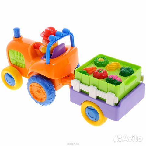 Развивающие игрушки трактор