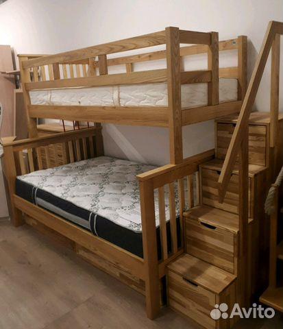 90ed4c852ff2b Двухъярусная кровать из массива купить в Санкт-Петербурге на Avito ...