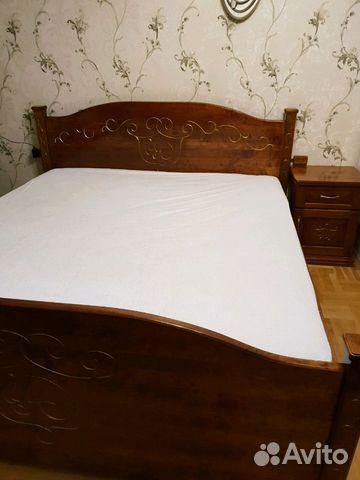 спальня мебель из массива березы кровать шкаф купить в санкт