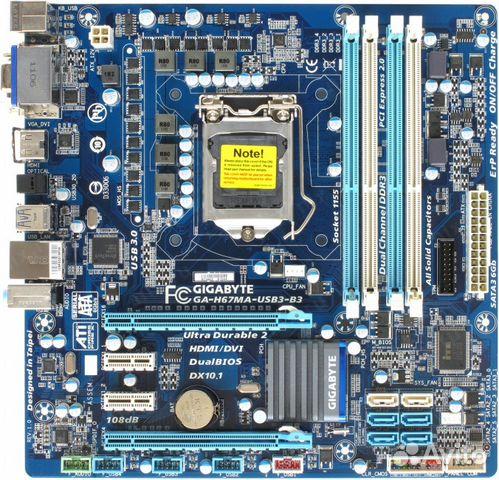Материнская плата GA-H67MA-USB3-B3   Festima.Ru - Мониторинг объявлений