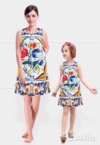 977a2dabb97 Красивые летние платья (комплект мама + дочка) купить в Санкт ...
