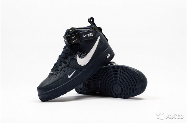 9e03aef9 Nike air force LV8 черные высокие все размеры купить в Москве на ...