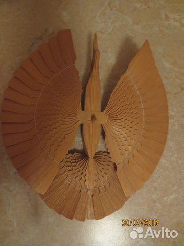 Souvenir wooden bird of happiness
