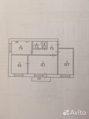 Продается трехкомнатная квартира за 1 850 000 рублей. г Саратов, пр-кт Строителей, д 52А.