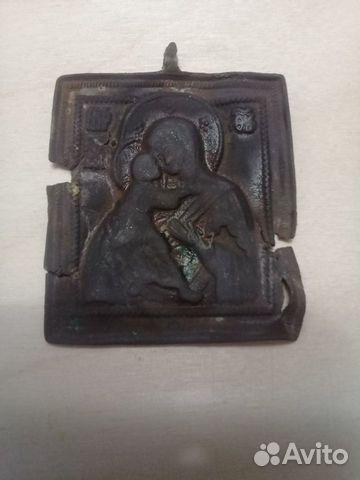 Старинная нательная иконка плашка-Богородицы 89200805311 купить 1