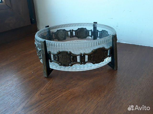 Декоративные вазы. стекло в металлическом обрамлен 89512657538 купить 1