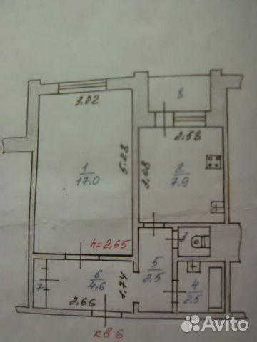 1-к квартира, 36.5 м², 2/2 эт.
