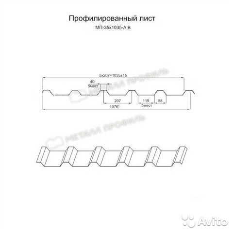 Профлист (профилированный лист)