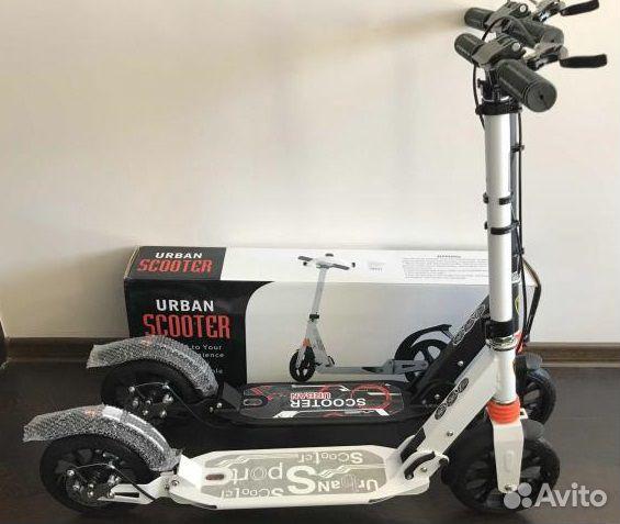 Самокат с ручным тормозом Скутер  89373624500 купить 1