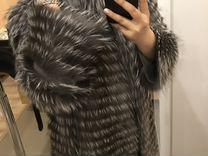 Шуба из чернобурки на трикотаже — Одежда, обувь, аксессуары в Санкт-Петербурге