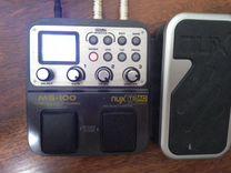Электрогитара + гитарный процессор NUX