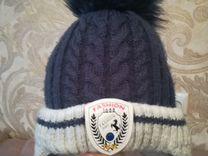Зимняя шапка + краги в идеальном состоянии