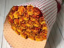 Букет из 25 роз 60см. Доставка цветов в Ставрополе