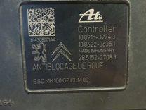 Блок ABS peugeot, citroen 9809312580,escmk100G2CEM