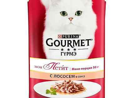 Gourmet Мон Петит Лосось В Соусе 30x50г