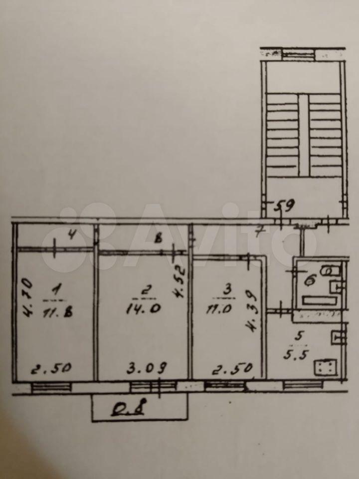 Комната 11 м² в 3-к, 5/5 эт.  89532462412 купить 8
