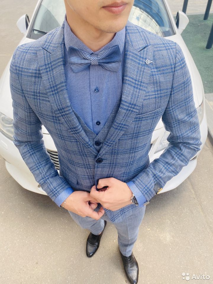 Серо синий костюм  89999758742 купить 9