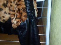 Куртка женская. Кожа+мех. Осень