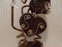 Кофейный топиарий сердце.Кофейное дерево — Мебель и интерьер в Москве